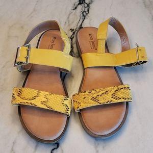New Henry Ferrera yellow sandals